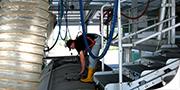 Lavaggio interno silo alimentari e non